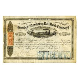 Hartford and New Haven Rail Road Co., 1871 Issued Stock Certificate