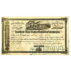 Hartford and New Haven Rail Road Co., 1872 Issued Stock Certificate