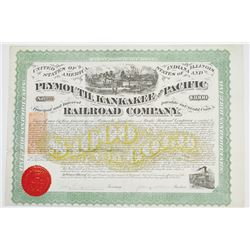 Plymouth, Kankakee and Pacific Railroad Co., 1871 Issued Bond