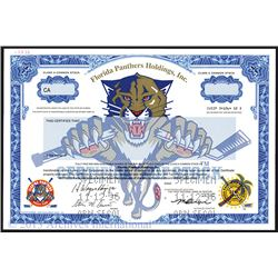 Florida Panthers Holdings, Inc., 1996 Specimen Stock Certificate.