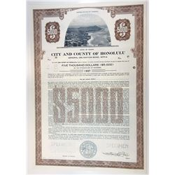 City & County of Honolulu, 1978 Specimen Bond