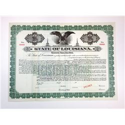 State of Louisiana, 1914 Specimen Bond