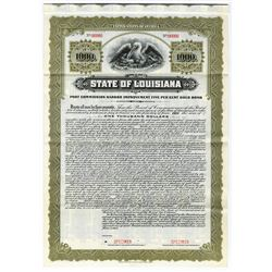 State of Louisiana, 1915 Specimen Bond
