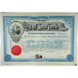 City of New York, ca.1900-1910 Specimen Bond