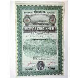 City of Cincinnati, 1906 Specimen Bond