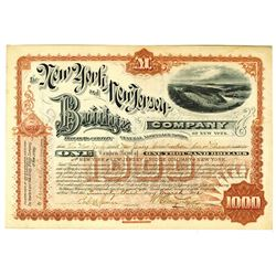New York & New Jersey Bridge Co. of New York, 1892 Certificate for 1 Coupon Bond.