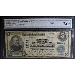 1902 $5 3rd CH PLAIN BACK NATIONAL CURRENCY