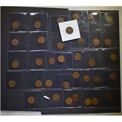 35 EARLY LINCOLN CENTS, PRE 1940