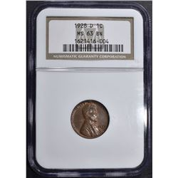 1928-D LINCOLN CENT NGC MS-63 BN