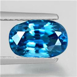 Natural Top AAA Electric Blue Zircon 3.10 Ct - Flawless
