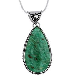 GORGEOUS NATURAL 75.50 CT RUBY ZOISITE PENDANT.