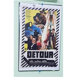 """DETOUR"" MOVIE LOBBY CARD POSTER"
