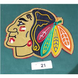 LARGE CHICAGO BLACKHAWKS CLOTH PATCH