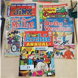 5 VINTAGE ARCHIE/BETTY & VERONICA COMICS