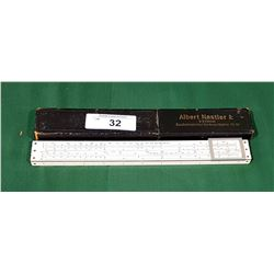 1940'S ALBERT NESTLER NO.40 WOOD SLIDE RULER
