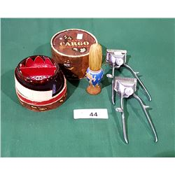 VINTAGE BARBER HAIR CLIPPERS, SHAVING BRUSH & SHAVING SOAP