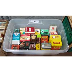 30 VINTAGE SPICE TINS, CANDY TINS ETC
