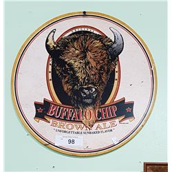 BUFFALO CHIP BROWN ALE SST BEER SIGN