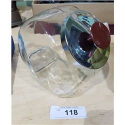 GLASS COUNTER TOP STORE CANDY JAR