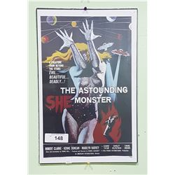 THE ASTAOUNDING SHE MONSTER MOVIE CARD
