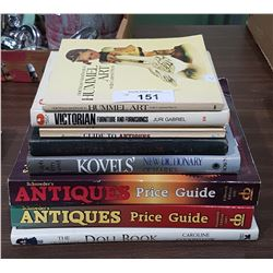 8 ANTIQUES REFERENCE BOOKS