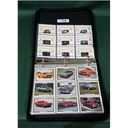 BINDER OF 75 HOT ROD COLLECTOR CARDS