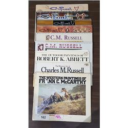 10 PCS WESTERN ART BOOKS & CALENDARS