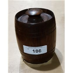 VINTAGE WOOD TEA/COFFEE BARREL