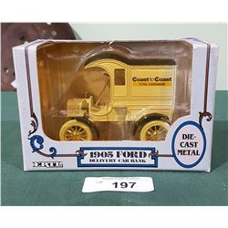 1905 FORD DELIVERY TRUCK DIE CAST COIN BANK