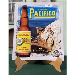 ORIGINAL PACIFICO TIN BEER SIGN