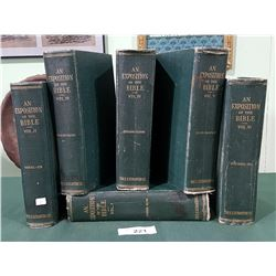 AN EXPOSITION OF THE BIBLE 6 VOLUME SET DATED 1903