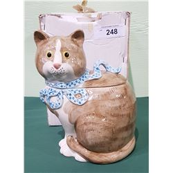FITZ & FLOYD KITTY COOKIE JAR