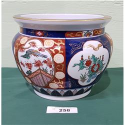 GOLD IMARI ASIAN CERAMIC PLANTER