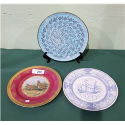 3 COLLECTIBLE CHINA PLATES