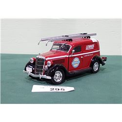 DIE CAST LENNOX DELIVERY SEDAN COIN BANK