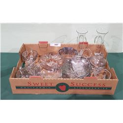 BOX LOT STERLING SILVER OVERLAY GLASS
