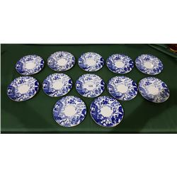 "12 ROYAL CROWN DERBY ""MIKADO"" DESSERT PLATES"