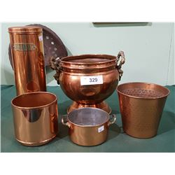5 VINTAGE COPPER PIECES