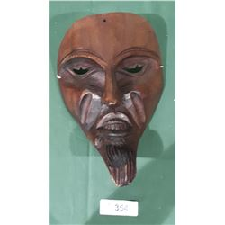 PERUVIAN HAND CARVED WOOD MASK