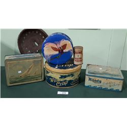 5 VINTAGE COLLECTIBLE TINS