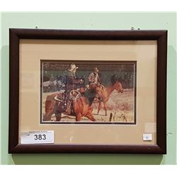 FRAMED COWBOY PRINT BY ARNOLD MOSLEY