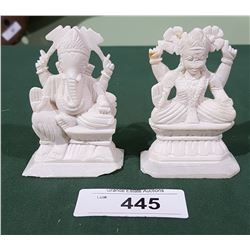 2 ASIAN CARVED SOAPSTONE FIGURES