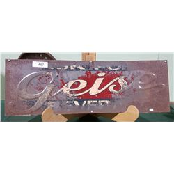 1940'S GEISE BEVERAGES SIGN