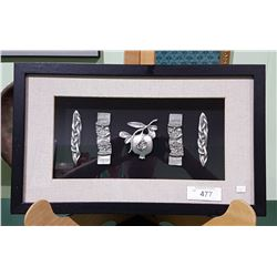 SHADOW BOX OF PEWTER DESIGNS
