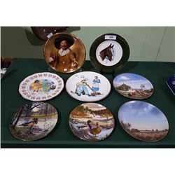 LOT OF 8 COLLECTIBLE CHINA PLATES