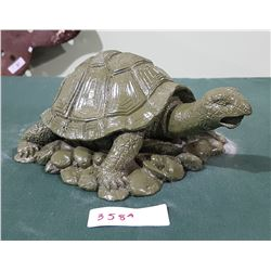 HIGHLY DETAILED CONCRETE TURTLE STATUE