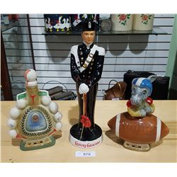 3 VINTAGE COLLECTIBLE LIQUOR DECANTERS