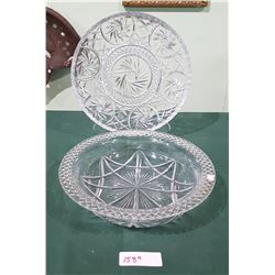 CRYSTAL TRAY & BOWL