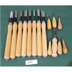LOT OF 15 CHISELS