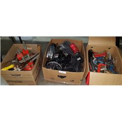 3 BOXES OF HAND & POWER TOOLS